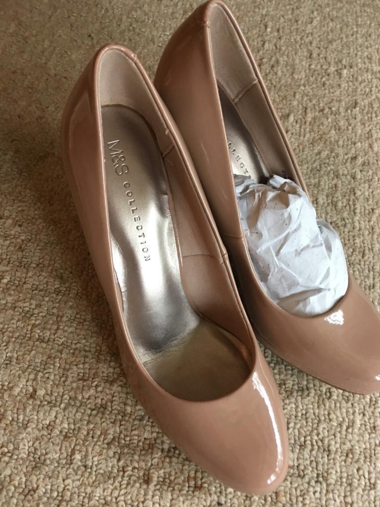 Nude court shoe M&S