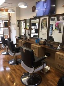Barber Shop For Sale - Farnham - Furnished - £27,000 10 year lease.