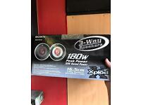 Sony car speakers. 180w