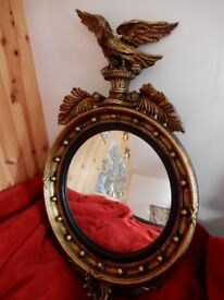 MIRROR - Gold ornate eagle decoartive mirror