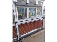 Grey PVC french doors