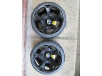 SET OF POWAKADDY WINTER WHEELS IN USABLE CONDITION.