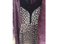 Animal print xmas / new year party clubbing dress from Quiz size 8