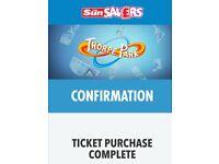 2x thorpe park tickets saturday 30th june