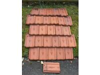 French clay roofing tiles 12''x8''