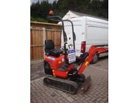 Mini digger and Micro digger hire in Leeds Wakefield and surrounding areas