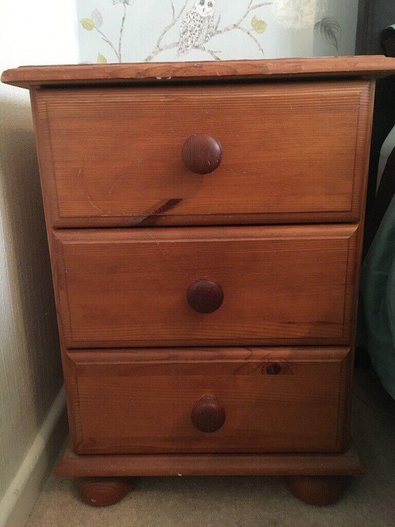 Locker Bedside Table: Wooden Bedside Cabinet/Bedside Table/Chest