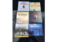 JOHN GRISHAM 6 no audio cd books. (Brilliant)