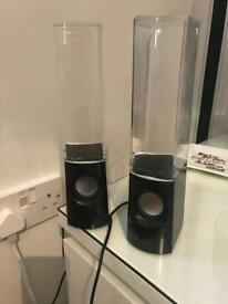 Working dancing water speakers