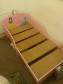pink toddler princess bed for sale
