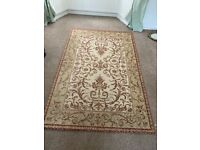 Room Rug Cream and Rust Red