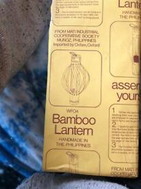Bamboo lantern new in box not opened