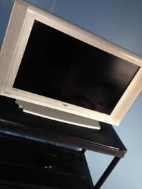 "Dual 30"" silver tele and now tv box"
