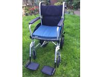 Expedition Plus Transit Wheelchair, foldable wheelchair, 2 weeks old, used once!