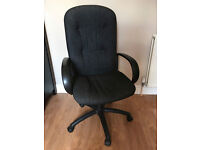 Large grey comfortable computer chair