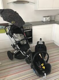 Quinny Buzz 3, Maxicosi Car Seat and Maxicosi Easyfix