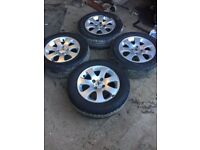 Set of 4 Genuine Peugeot 307 alloy wheels with 4 good tyres 195 65 R15 fits 01-08
