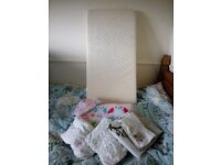 Cotbed bedding and mattress