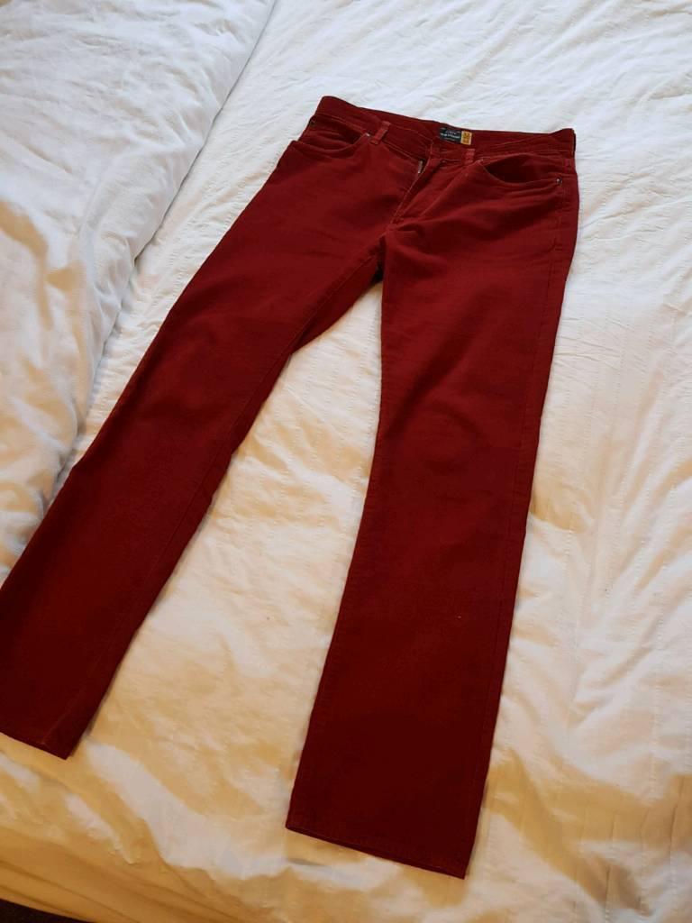 Red J Crew Cords - 32 waist
