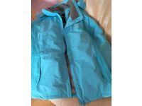 tresspass jacket turqoise size 16