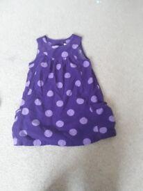 Purple pinafore dress