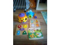 Bundles of shape sorters and puzzles