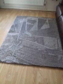 Soft pile grey rug 120cm x 170cm