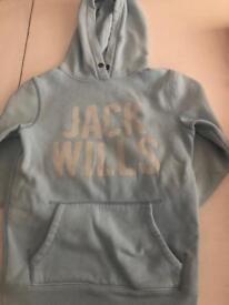 Size 6 light blue jack wills hoodie. £8