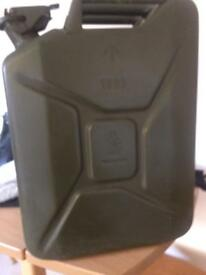 Old army 15 litre jerry can