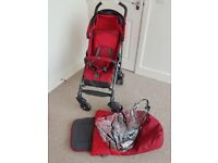 Stroller...CHICCO LITEWAY RED £60