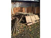 bonfire wood - fence panels and doors