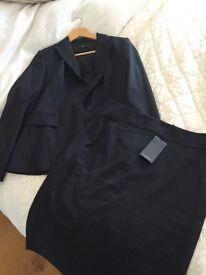 Hugo Boss women's black skirt suit