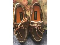 New men's leather timberlands boat shoes