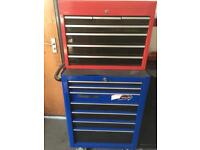 SNAP ON / HALFORDS TOOL BOXES STACK / TOP BOX / ROLL CAB IMMACULATE