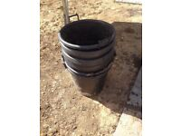 8x large garden pots - container