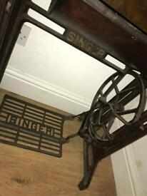 Singer sewing machine with stand