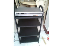 Audio Visual cabinet with 4 wooden Shelves