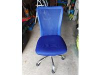 HOME Reade Mesh Gas Lift Adjustable Office Chair - Blue