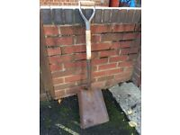 British made solid forged builders shovel