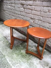 Nest of two unusual occasional tables. Ideal up cycle project
