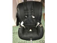 In good condition. Side impact protection, 5-point safety harness, Black Britax. Reclines back.
