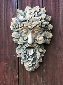 Green Man Plaque Garden Ornament