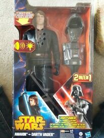 STAR WARS ANAKIN TO DARTH VADER FIGURE (WITH BOX)
