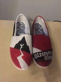Sleeping with sirens - custom - slip on shoes