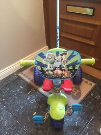 Toy story trike with parent handle