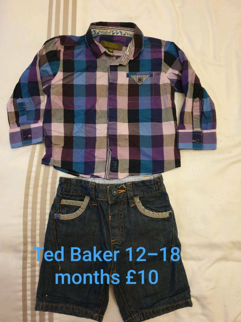 7911f80866f2 Ted Baker boys shirt and shorts 12-18 months