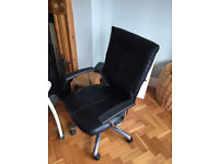Black Leather chair with lumber support