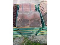 Red/Brown concrete roof tiles