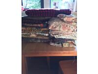 Mixed vintage fabric job lot.