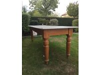 Antique solid oak dining / kitchen table